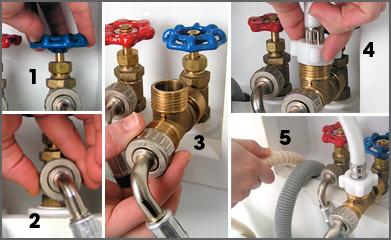 Conectar lavadora toma de agua